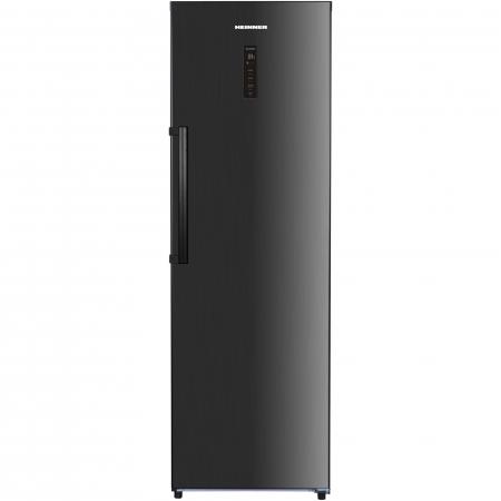 Frigider cu o usa Heinner HF-H355NFDX++, 355 l, NoFrost, Display, Control electronic, Clasa A++, H 185 cm, Inox negru0