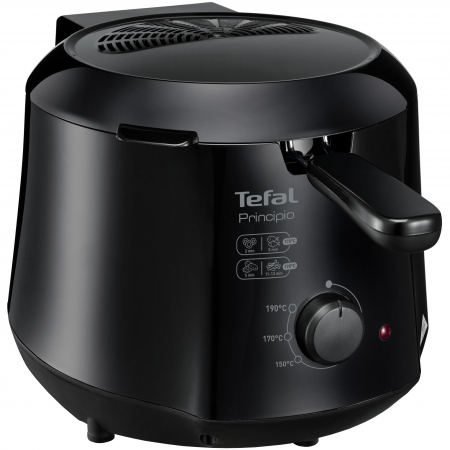 Friteuza Tefal Minicompact FF230831 Principio, 1000W, 0.6 Kg, 1.2L, termostat reglabil, Negru [0]