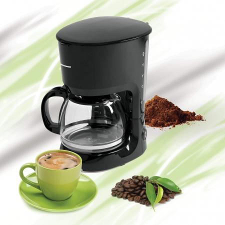 Cafetiera Heinner HCM-750BK, 750W, 1.25L, anti-picurare, mentinere cald, Negru [0]