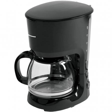 Cafetiera Heinner HCM-750BK, 750W, 1.25L, anti-picurare, mentinere cald, Negru [1]