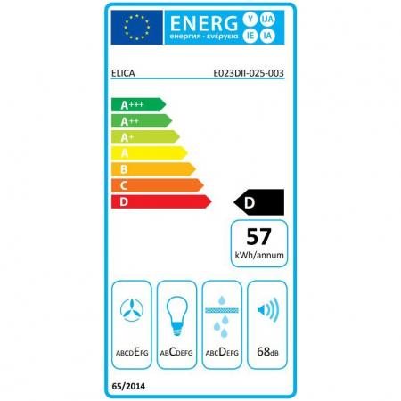 Hota incorporabila decorativa Elica MISSY PB IX/A/90, Putere de absorbtie 600 mc/h, Sistem cu filtru, Iluminare LED, Filtru de grasime, Clasa A, 90 cm, Inox [1]