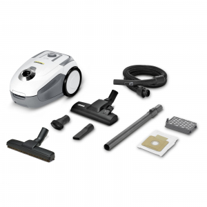 Aspirator cu sac Karcher VC2 Premium, 700 W, 2.8 l, Filtru Hepa13, 76 dB, Alb