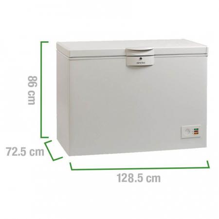 Lada frigorifica Arctic O40+, 360 l, Clasa A+, 2 cosuri, Yala, L 128.5 cm, Alb2