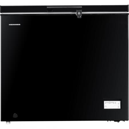 Lada frigorifica Heinner HCF-205NHBKF+, 200 l, Clasa A+, Control elecronic, Iluminare LED, Waterproof Display, Negru0