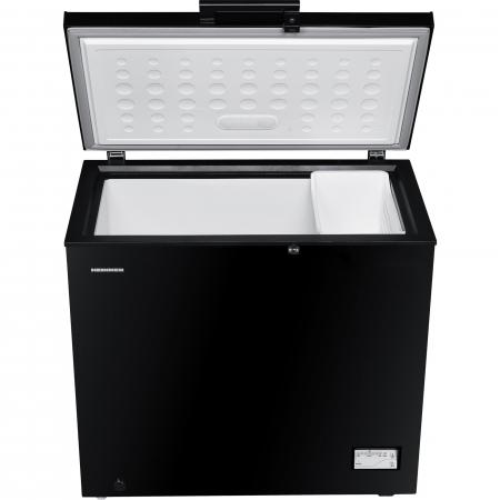 Lada frigorifica Heinner HCF-205NHBKF+, 200 l, Clasa A+, Control elecronic, Iluminare LED, Waterproof Display, Negru3