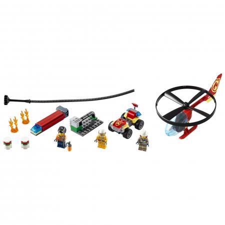 LEGO City Fire - Interventie cu elicopterul de pompieri 60248, 93 piese [1]