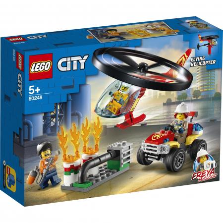 LEGO City Fire - Interventie cu elicopterul de pompieri 60248, 93 piese [0]