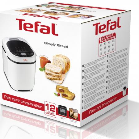 Masina de paine Tefal Pain Doré PF210, 700 W, 1000 g, 12 programe, Alb/Negru [6]
