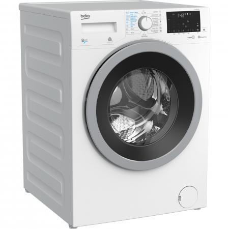 Masina de spalat rufe cu uscator Beko HTV8636XS0, Spalare 8 kg, Uscare 5 kg, 1200 RPM, HomeWhiz,SteamCure, IonGuard, Clasa A, Motor ProSmart Inverter, Wash & Wear, BabyProtect,Downloaded Cycle, Alb1