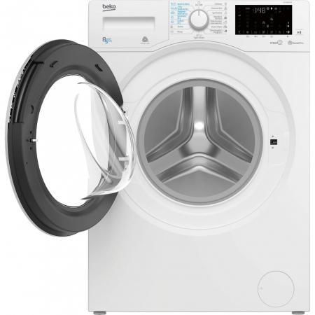 Masina de spalat rufe cu uscator Beko HTV8636XS0, Spalare 8 kg, Uscare 5 kg, 1200 RPM, HomeWhiz,SteamCure, IonGuard, Clasa A, Motor ProSmart Inverter, Wash & Wear, BabyProtect,Downloaded Cycle, Alb2
