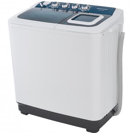 Masina de spalat rufe semiautomata Heinner HSWM-AD84BL, 8 Kg, 4.6 Kg, Alb/Albastru0