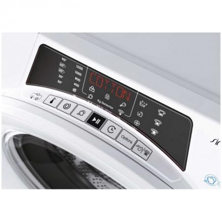 Masina de spalat rufe slim, Candy Rapido RO4 1274DXH51-S, 7 kg, 1200 rpm, Clasa A, Motor Inverter, Kilo Detector, Mix Power System, Alb [4]