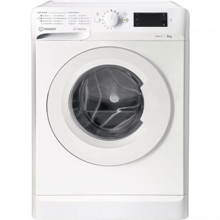 Masina de spalat rufe Slim Indesit MTWSE61252WEE, 6kg, 1200 RPM, Clasa A+++, MyTime, Fast Cycles, Alb [0]