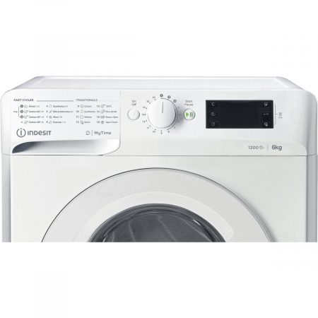 Masina de spalat rufe Slim Indesit MTWSE61252WEE, 6kg, 1200 RPM, Clasa A+++, MyTime, Fast Cycles, Alb [7]