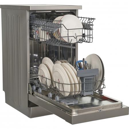 Masina de spalat vase Heinner HDW-FS4506DSA++, 10 seturi, 6 programe, Clasa A++, Control electronic, Display LED, 45 cm, Gri [4]