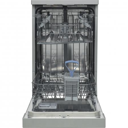 Masina de spalat vase Heinner HDW-FS4506DSA++, 10 seturi, 6 programe, Clasa A++, Control electronic, Display LED, 45 cm, Gri [3]