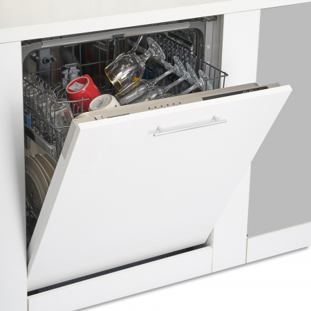 Masina de spalat vase incorporabila Heinner HDW-BI6006A++, 12 seturi, 6 programe, Clasa A++, Control electronic, Display LED, 60 cm3