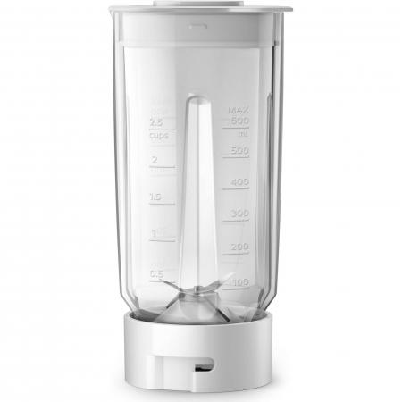 Mini blender Philips HR2603/00, 350 W, 1 L, 2 viteze, recipient on-the-go, multitocator, Alb1