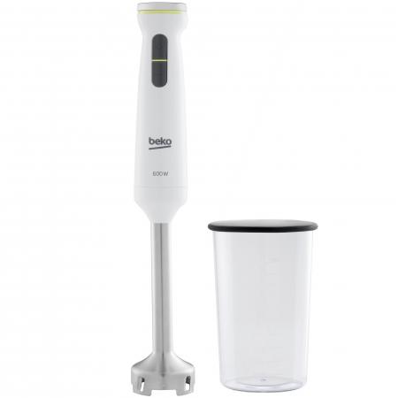 Mixer vertical Beko Foodster HBS7600W, 600W, pahar 1 L, functie Turbo, maner ergonomic, Alb0