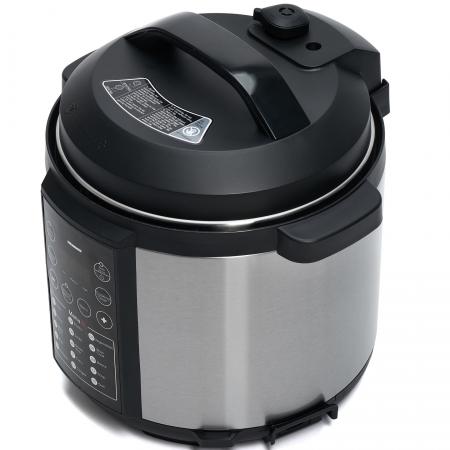 Multicooker cu gatire la presiune Heinner HPCK-6IX, 4.5 L, 15 programe, Vas antiadeziv detasabil, Presiune reglabila, Timer, Display led, Inox1