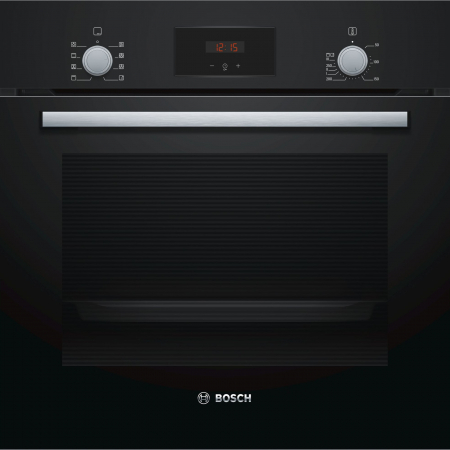 Cuptor incorporabil Bosch HBF153EB0, Electric, Autocuratare EcoClean Direct, 66 l, Clasa A, Negru0