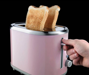 Prajitor de paine Russell Hobbs Bubble Soft Pink 25081-56, 930 W, 2 felii, 6 setari, Decongelare, Roz1
