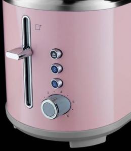 Prajitor de paine Russell Hobbs Bubble Soft Pink 25081-56, 930 W, 2 felii, 6 setari, Decongelare, Roz2