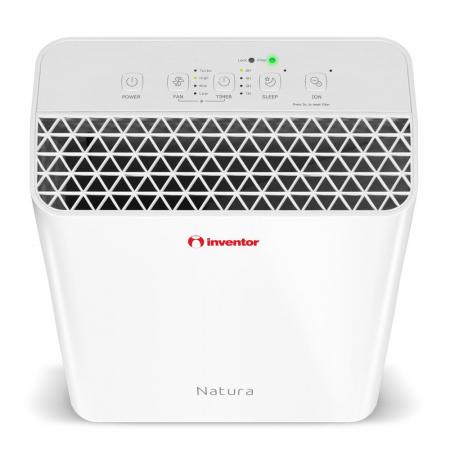 Purificator de aer Inventor Natura, filtru Ionizator HEPA Carbune activ, suprafata acoperita 20 mp, timer, Sleep, alb3