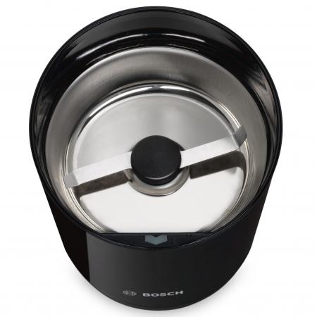 Rasnita de cafea Bosch TSM6A013B, 180 W, 75 g, cutit otel inoxidabil, Negru [2]