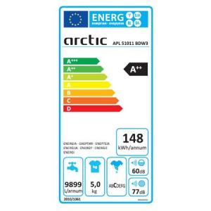 Masina de spalat rufe Slim Arctic APL51011BDW3, 5 kg, 1000 RPM, Clasa A++, Alb [3]