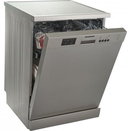 Masina de spalat vase Heinner HDW-FS6006DSA++, 12 seturi, 6 programe, Clasa A++, Control electronic, Display LED, 60 cm, Argintiu [3]