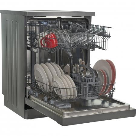 Masina de spalat vase Heinner HDW-FS6006DGA++, 12 seturi, 6 programe, Clasa A++, Control electronic, Display LED, 60 cm, Gri antracit [5]
