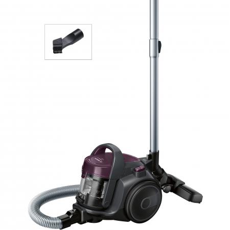 Aspirator fara sac Bosch 3A BGC05AAA1, 700W, 1.5 l, Filtru igienic PureAir, Easy Clean, Negru/Mov [5]