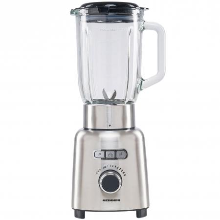 Blender Heinner HBL-ICE1000XMC, 1000 W, 1.5 l, Viteza variabila, Pulse, Zdrobire gheata, Bol sticla, Inox0
