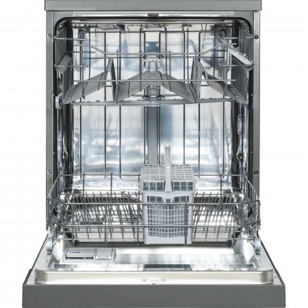 Masina de spalat vase Heinner HDW-FS6006DGA++, 12 seturi, 6 programe, Clasa A++, Control electronic, Display LED, 60 cm, Gri antracit [4]