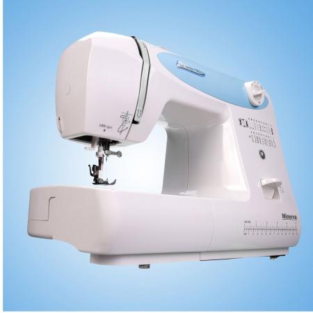 Masina de cusut electromecanica Minerva LV730, 20 programe, 850 imp/min, 70W, Alb/Bleu2