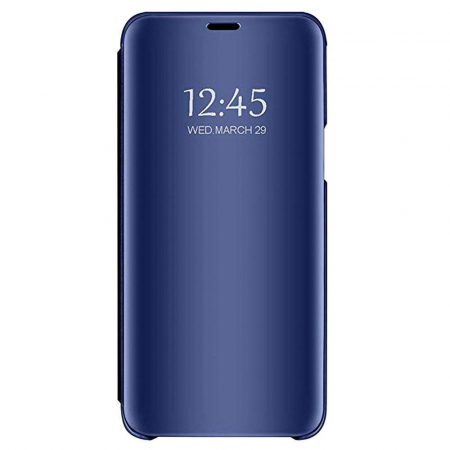 Husa Clear View Mirror Huawei Y6 2019 Blue0