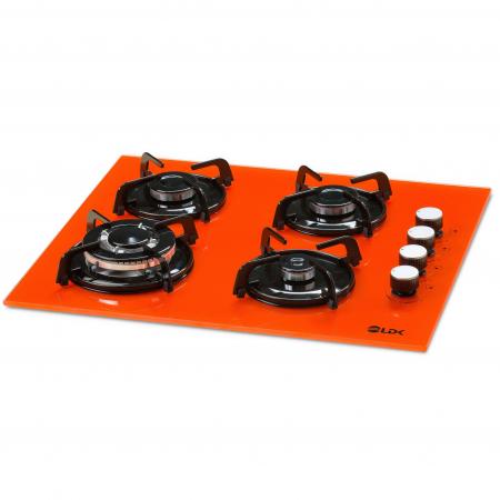 Plita incorporabila LDK YD640VE40T, 4 Arzatoare, 1 Arzator WOK, Aprindere electrica, Siguranta, 3 Ani garantie, 60 cm, Portocaliu1