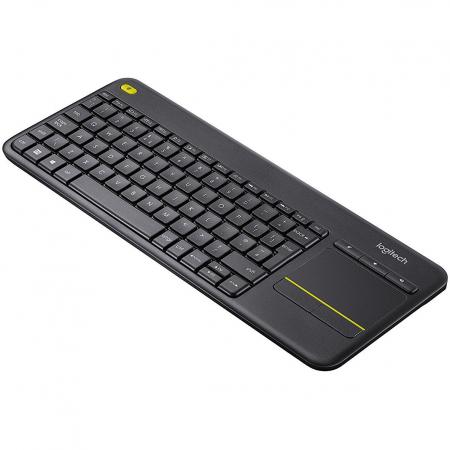 Tastatura Wireless Logitech K400 Plus Dark, Touchpad, USB, Black1