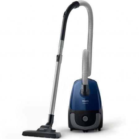 Aspirator cu sac Philips FC8240/09, 750 W, 3L, filtru anti-alergeni, s-Bag, Albastru