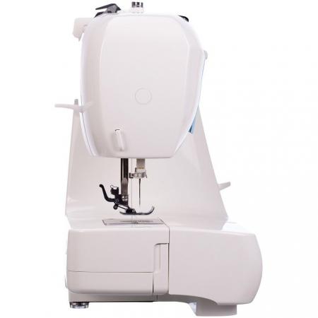 Masina de cusut electromecanica Minerva LV730, 20 programe, 850 imp/min, 70W, Alb/Bleu1