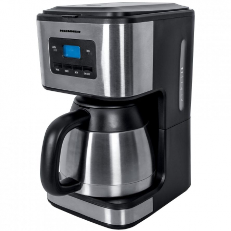 Cafetiera Heinner Digitala HCM-900XMC, 900W, 1L, cana termos, Lcd, Timer, Inox0