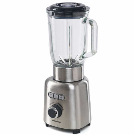 Blender Heinner HBL-ICE1000XMC, 1000 W, 1.5 l, Viteza variabila, Pulse, Zdrobire gheata, Bol sticla, Inox1