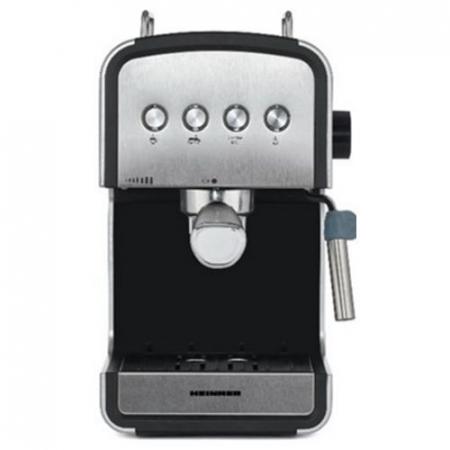 Espressor semi-automat Heinner HEM-B2012SA, 20 bar, 850W, rezervor apa detasabil 1.2l, optiuni presetate pentru espresso lung/scurt, filtru din inox, plita pentru mentinere cafea calda, decoratii inox0