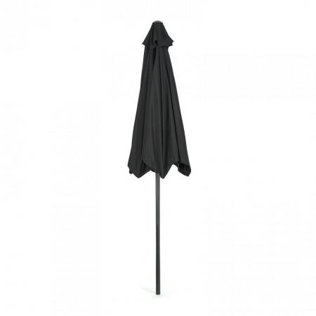 Umbrela soare / gradina, Heinner, LFUD001, rotunda, mecanizm rabatare, 2.4 m, negru1