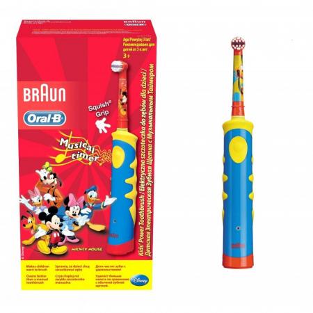 Periuta de dinti electrica Oral-B pentru copii D10.513K, 5600 oscilatii/min, rosu/albastru0