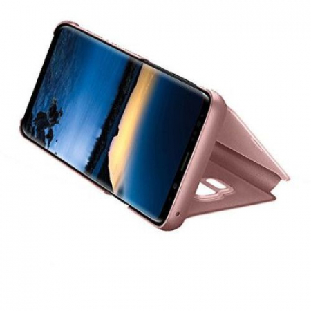 Husa Huawei Y6 2019 / Y6 Prime 2019, Clear View Flip Mirror Stand, Roz/Pink2