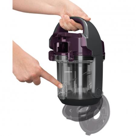 Aspirator fara sac Bosch 3A BGC05AAA1, 700W, 1.5 l, Filtru igienic PureAir, Easy Clean, Negru/Mov [3]