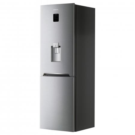 Combina frigorifica Daewoo RN-307RDQM, 305 l, Clasa A+, No Frost, Display, Dispenser apa, H 187 cm, Silver [1]