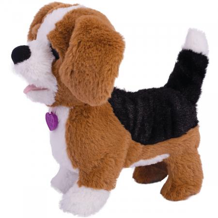 Jucarie interactiva de plus Noriel Pets - Zigo catelusul Beagle0